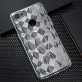 Oppo F7 3D Diamond Series Hybrid Clear Case