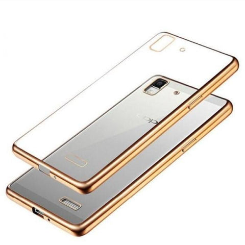 Oppo Neo7 Neo5 Electroplate Tpu Case Tranparent