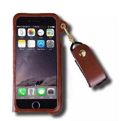 Original Leather With Rope Chain Case For Iphone
