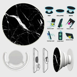 Trendy Black Marble PopSocket