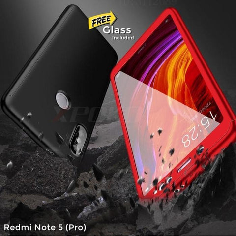 Redmi Note 5 (Pro) 360 Degree Full Protection Front+Back+Free Glass