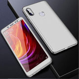 Redmi Note 5 (Pro) 360 Degree Full Protection Front+Back+Free Glass / Silver