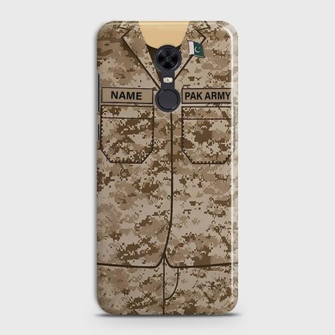 Xiaomi Redmi 5 Plus Army shirt with Custom Name Case