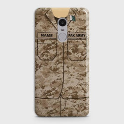 Xiaomi Redmi Note 4 Army shirt with Custom Name Case