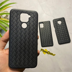 Leather Feel Mesh Shock Proof Case For All Redmi Model