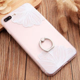 Ring Flower Grip Soft Premium Case For Iphone 6/6S / White