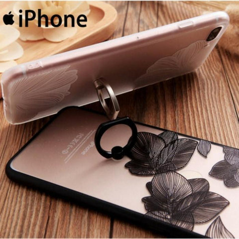 Ring Flower Grip Soft Premium Case For Iphone