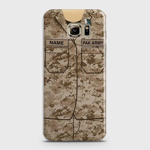 Samsung Galaxy S6 Edge Army shirt with Custom Name Case