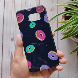 SAMSUNG GALAXY S7 Edge Colorful Donuts Case+Pop Socket C-039