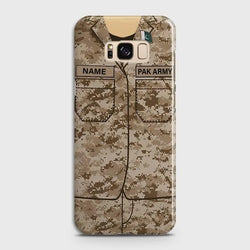 Samsung Galaxy S8 Plus Army shirt with Custom Name Case