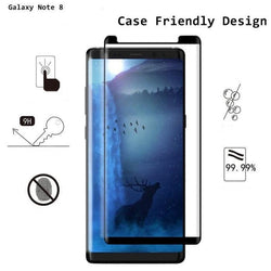 Samsung Galaxy Case Friendly 3D Tempered Glass