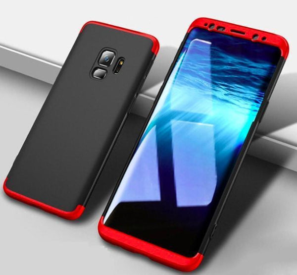 Samsung Gkk Branded 3 In 1 Hybrid Case Galaxy A6 (2018) / Red+Black