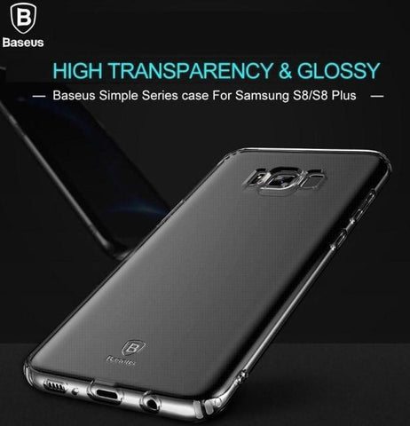 Samsung S8 & Plus Original Baseus Air Shock 100% Transparent
