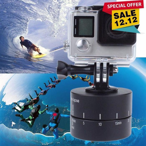Time Lapse 360 Degree Auto Rotate Camera Tripod For Mobile Go Pro Dslr