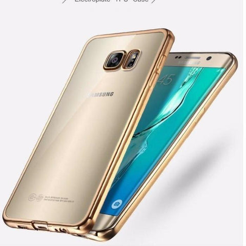 Ultra-Thin Soft Tpu Electroplate Clear Case For Samsung S7 Edge And S6