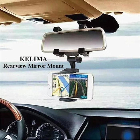 Universal Car Rearview Mirror Mobile Gps Holder Mount