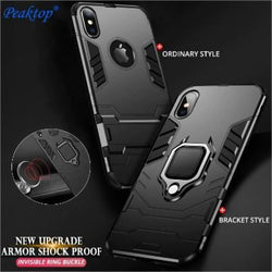 Upgraded Ironman with holding ring and kickStand Hybrid shock proof case for iPhone Models