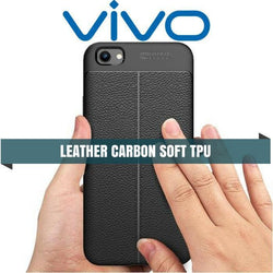 Vivo Leather Carbon Protective Tpu Soft Case