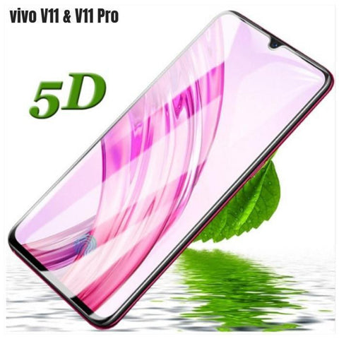 Vivo V11 & V11 Pro Branded 5D Full Hd Tempered Glass