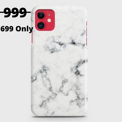 IPHONE 11 White Liquid Marble Case