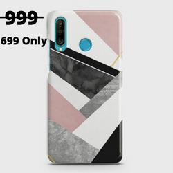 HUAWEI P30 LITE Geometric Luxe Marble Case