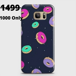 SAMSUNG GALAXY S7 Edge Colorful Donuts Case+Pop Socket