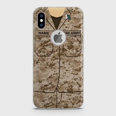 iPhone X Army shirt with Custom Name Case