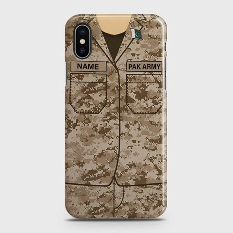 iPhone XS Army shirt with Custom Name Case