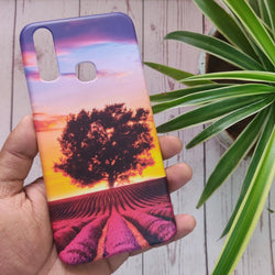 VIVO Y11 2019 Violet Lavender Fields Case+Pop Socket - C-065