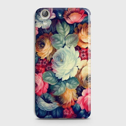 Huawei Y6II Vintage colorful Flowers Phone Case