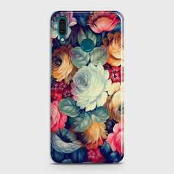 Huawei Y9 2019 Vintage Colorful Flowers Phone Case