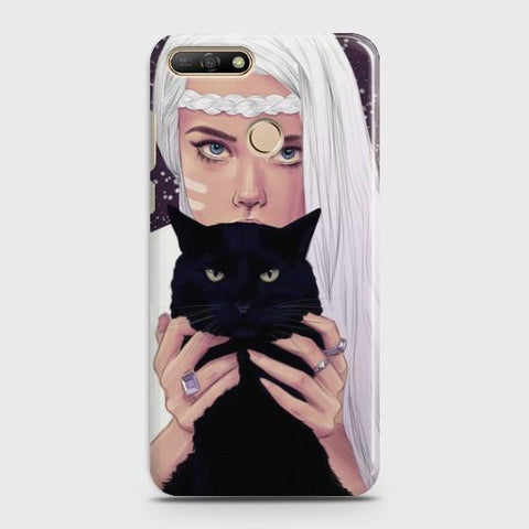 Huawei Y7 (2018) Wild Black Cat Phone Case