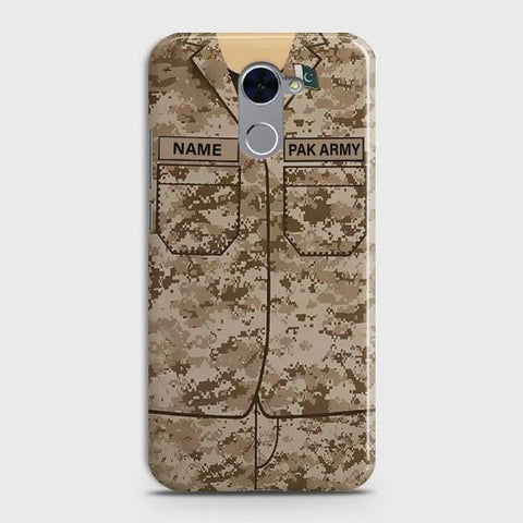 Huawei Y7 Prime (2017) Army shirt with Custom Name Case