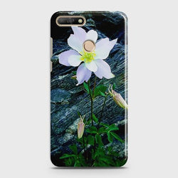 Huawei Y7 Pro 2018 White Flower Phone Case