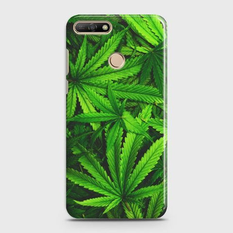 Huawei Y7 Pro 2018 Green Leaves Phone Case
