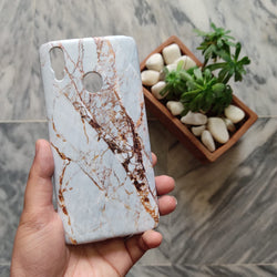 VIVO Y91 White & Gold Marble Case - C010