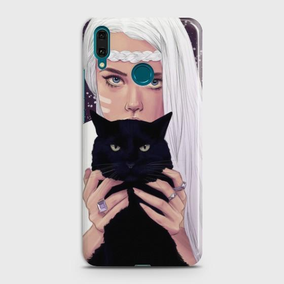 Huawei Y9 2019 Wild Black Cat Phone Case
