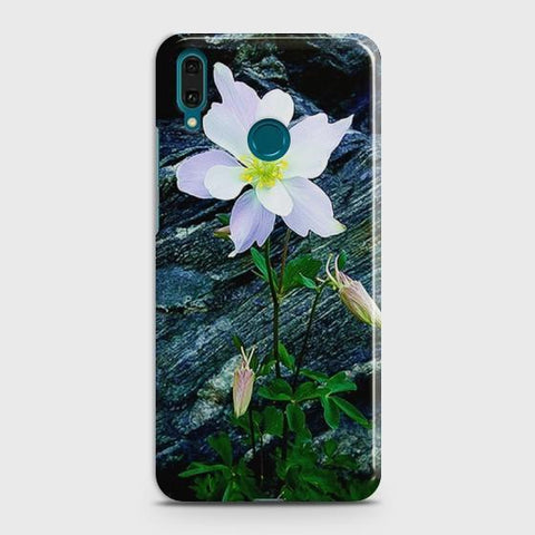 Huawei Y9 2019 White Flower Phone Case