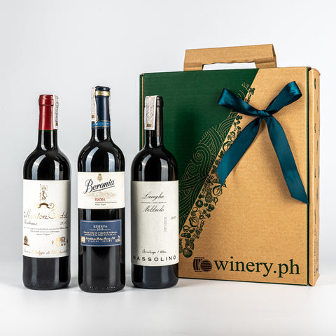 shop dads premium old world red wine gift sets for fathers day