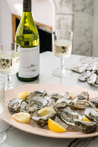 cloudy bay sauvignon blanc and oysters