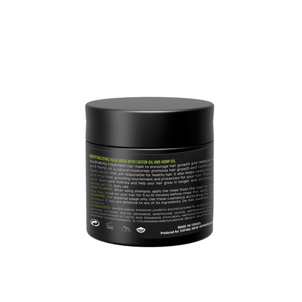 YOFING - Revitalizing Hair Mask with castor oil and hemp oil - DeadSeaShop.com