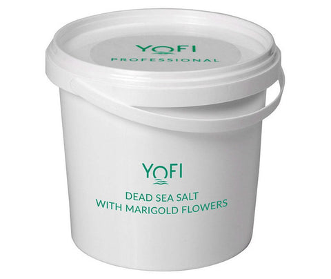 Dead Sea Salt with Marigold Flowers Bucket 1kg (1000gr)