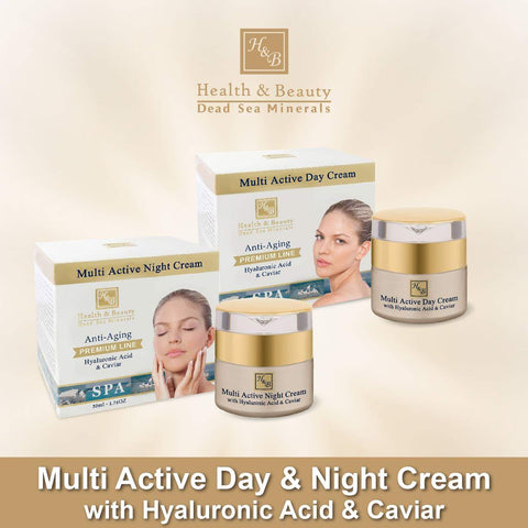 Health & Beauty - 1+1 SET - Multi Active Day & Night Cream - DeadSeaShop-com