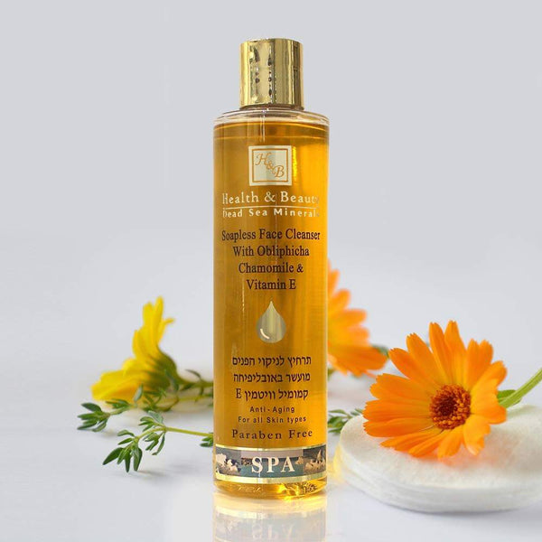Health & Beauty - Soapless Face Cleanser with Obliphicha, Chamomile & Vitamin E - DeadSeaShop.com