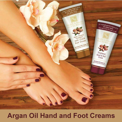 Health & Beauty - 1+1 SET - Argan Oil Hand and Foot Creams - DeadSeaShop-com