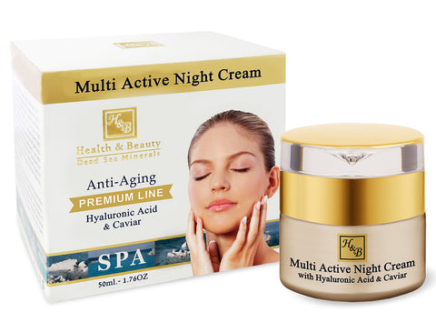 Multi-Active Night Cream With Hyaluronic Acid and Caviar Extract