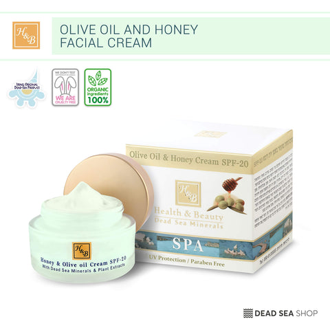 Health & Beauty - Olive Oil & Honey Cream SPF-20  - DeadSeaShop.com