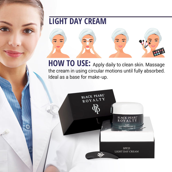 Black Pearl Royalty - Light Day Cream SPF-20 - DeadSeaShop.com