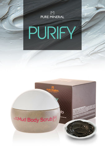 Pure Mineral - Foaming Body Mud Scrub - DeadSeaShop.com