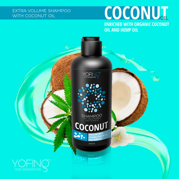 YOFING - Extra Volume Shampoo with Coconut Oil - DeadSeaShop.com